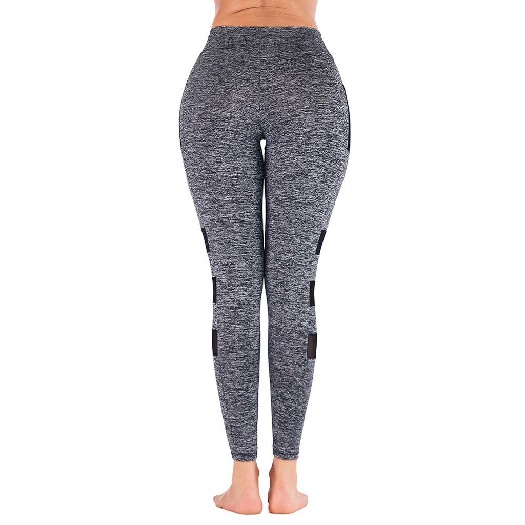 9cd425386c6fee Amazon.com: TOPUNDER 2018 Women High Waist Sports Pants Gym Yoga Running  Fitness Leggings Workout Clothes: Clothing