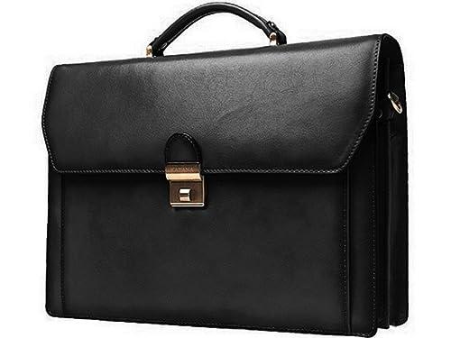 4e21908f9f0e0 Cartable Katana K63025 Cowhide Leather Briefcase 2 Gussets black Size  One  size