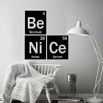 ZRSCL Tabla periódica de elementos Serie Combinación Pegatinas de ...