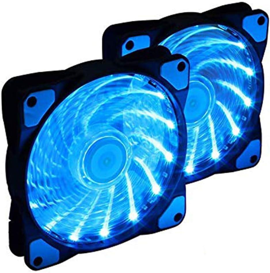 Blue,2PCS SUTIANZHANG LED Computer Case Fan Light,Silent Fan for PC Cases Fans Ultra Quiet