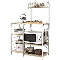DlandHome Carrello per microonde, Stoccaggio Utility da Cucina Portaspezie Organizzatore Mensola della Stazione di Lavoro