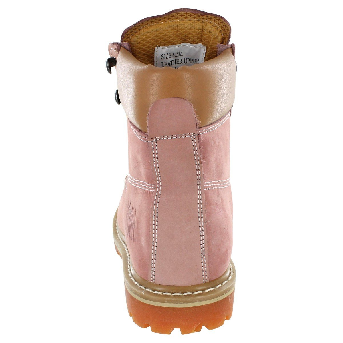 Safety Girl GS004-LTPNK-8M Safety Girl II Soft Toe Work Boots - Pink - 8M, English, Capacity, Volume, Leather, 8M, Pink () by Safety Girl (Image #6)
