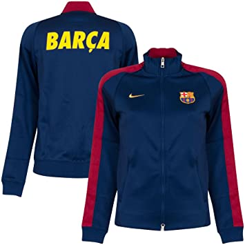 Nike N98 FC Barcelona Authentic Track Jacke - Soft shell para mujer, color azul,