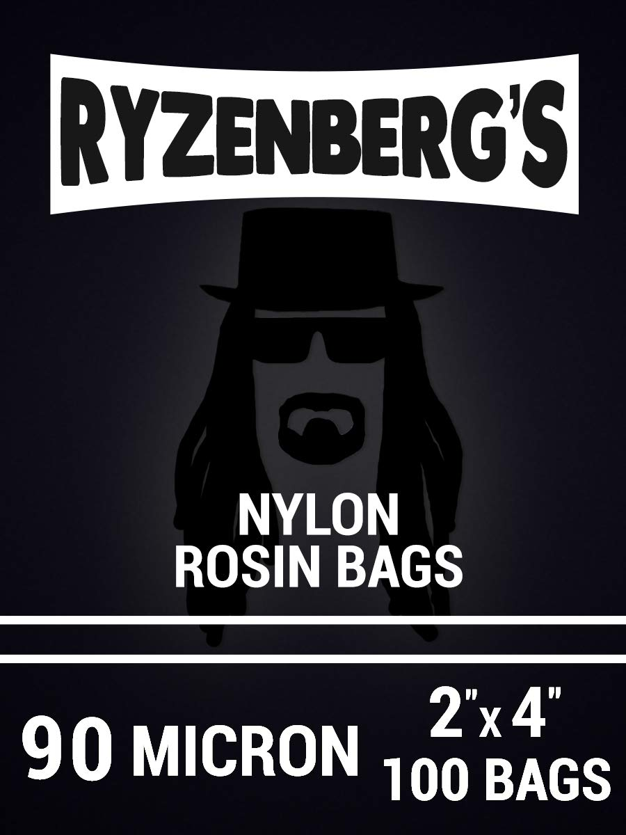 Rosin Press Bags/Rosin Filters (90 Micron/90u) 2'' x 4'' Inch (100 Pack) By Ryzenberg's by Ryzenberg Products