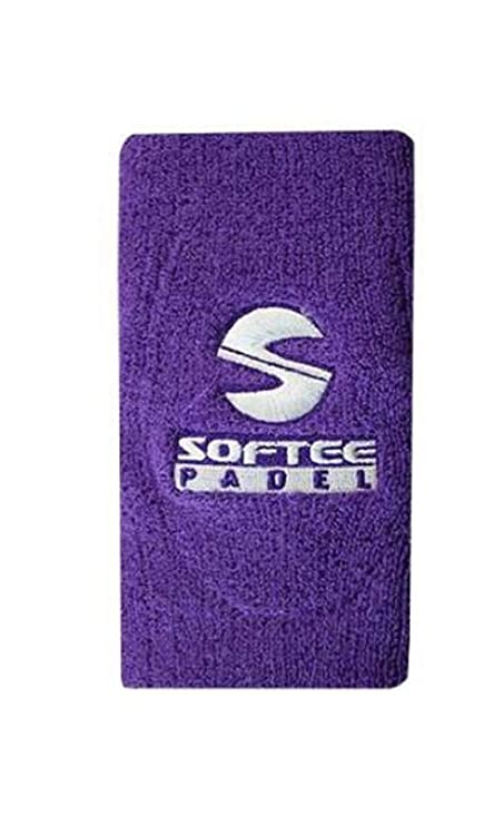 JIM Muñequera Padel Ancha Softee Violeta: Amazon.es ...