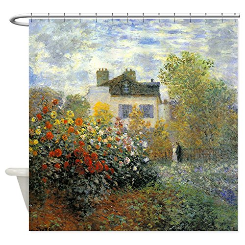 CafePress The Garden of Monet at Argenteuil Shower Curtain Decorative Fabric Shower Curtain (69