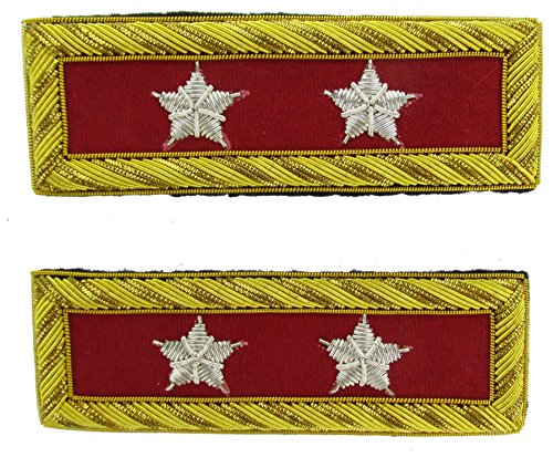 MAJOR GENERAL Reproduction ARTILLERY Officer Civil War Shoulder Board Rank for - Civil War Artillery Uniforms