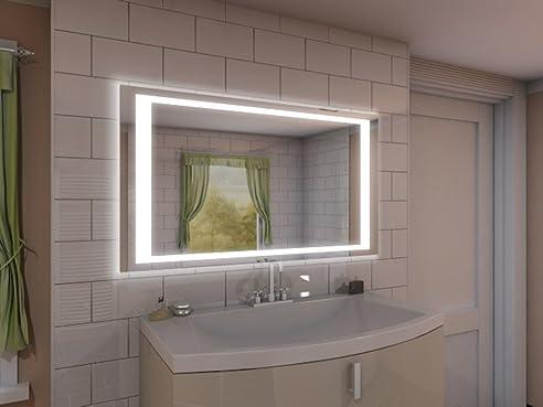 Badspiegel mit Beleuchtung NJ2 M402L4: Design Spiegel für ...