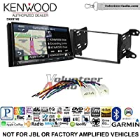 Volunteer Audio Kenwood DNX874S Double Din Radio Install Kit with GPS Navigation Apple CarPlay Android Auto Fits 2011-2013 Non Amplified Toyota Matrix