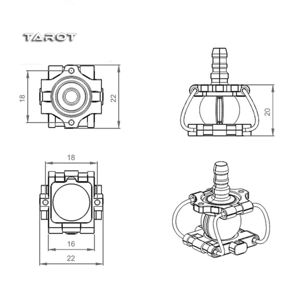 Tarot-RC TL2995 CNC - Amortiguador combinado para dron FPV: Amazon ...