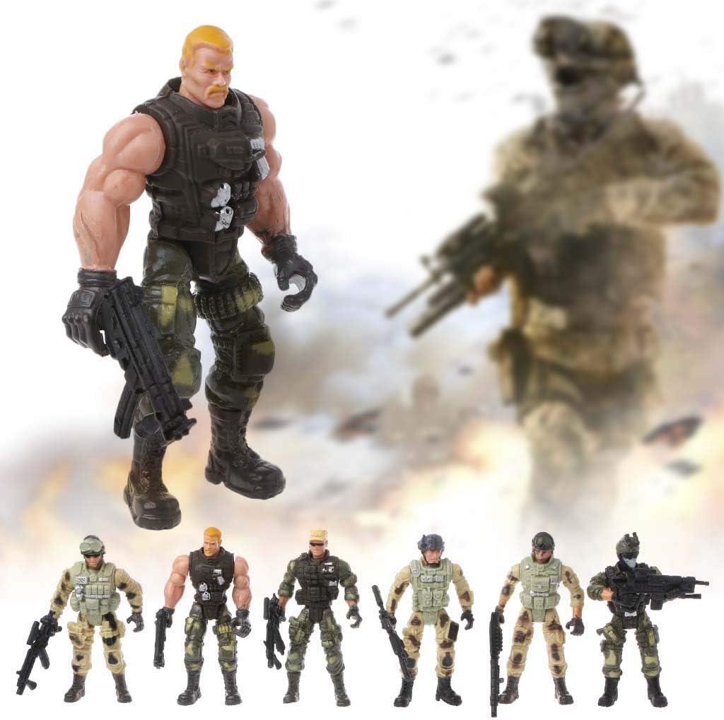 12 pcs Armee Kampf Soldat Actionfigur Modell Set für Kinder Lernspielzeug