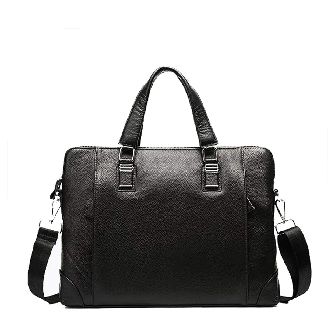 Color : A YUKILO Mens Cowhide Briefcase Casual Tote Crossbody Shoulder Messenger Bag Handbag Black for 13-inch Netbook Tablet