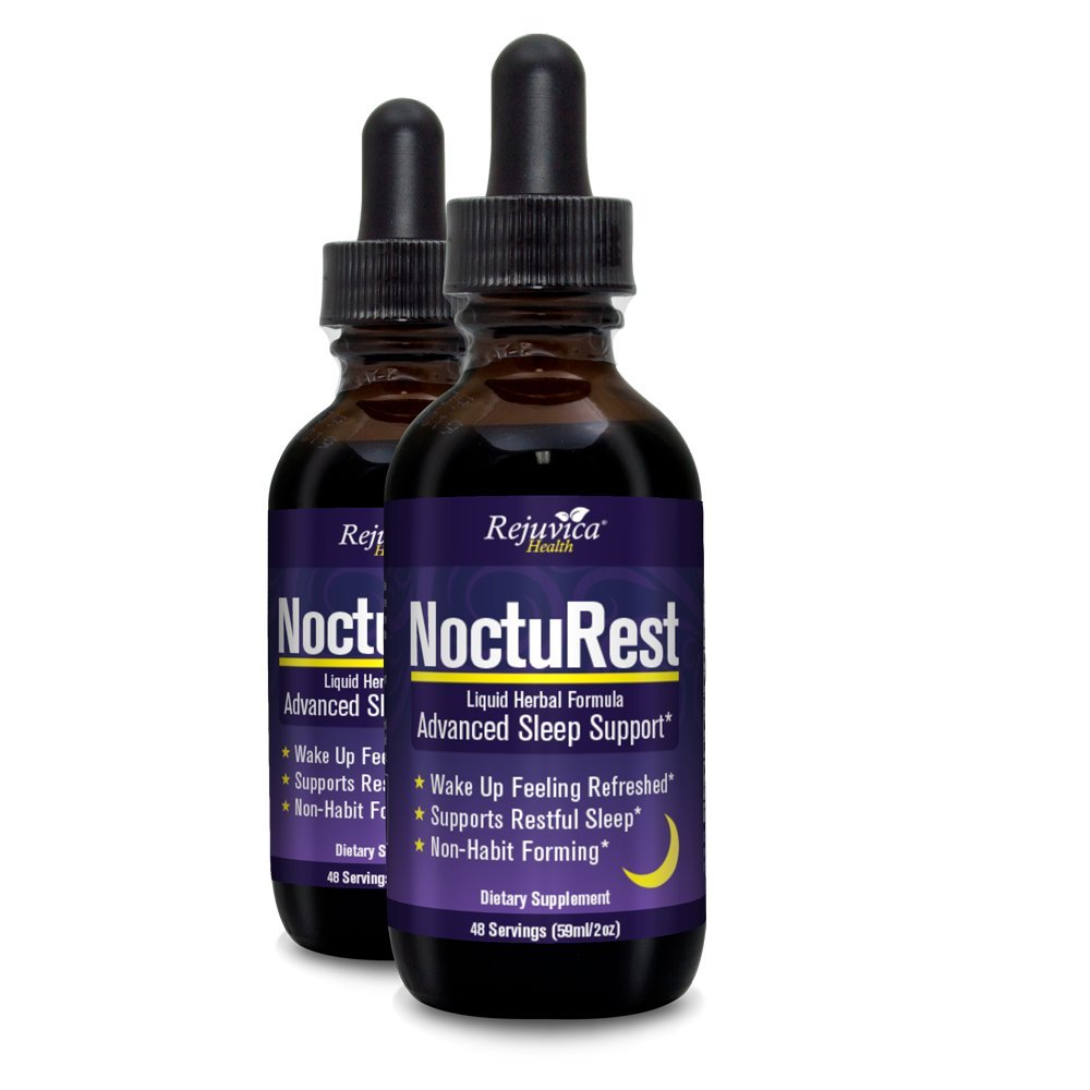 NoctuRest - Fast, Advanced Sleep Supplement | All-Natural Liquid Formula for 2X Absorption | Melatonin, Magnesium, Chamomile & More (Pack of 2)