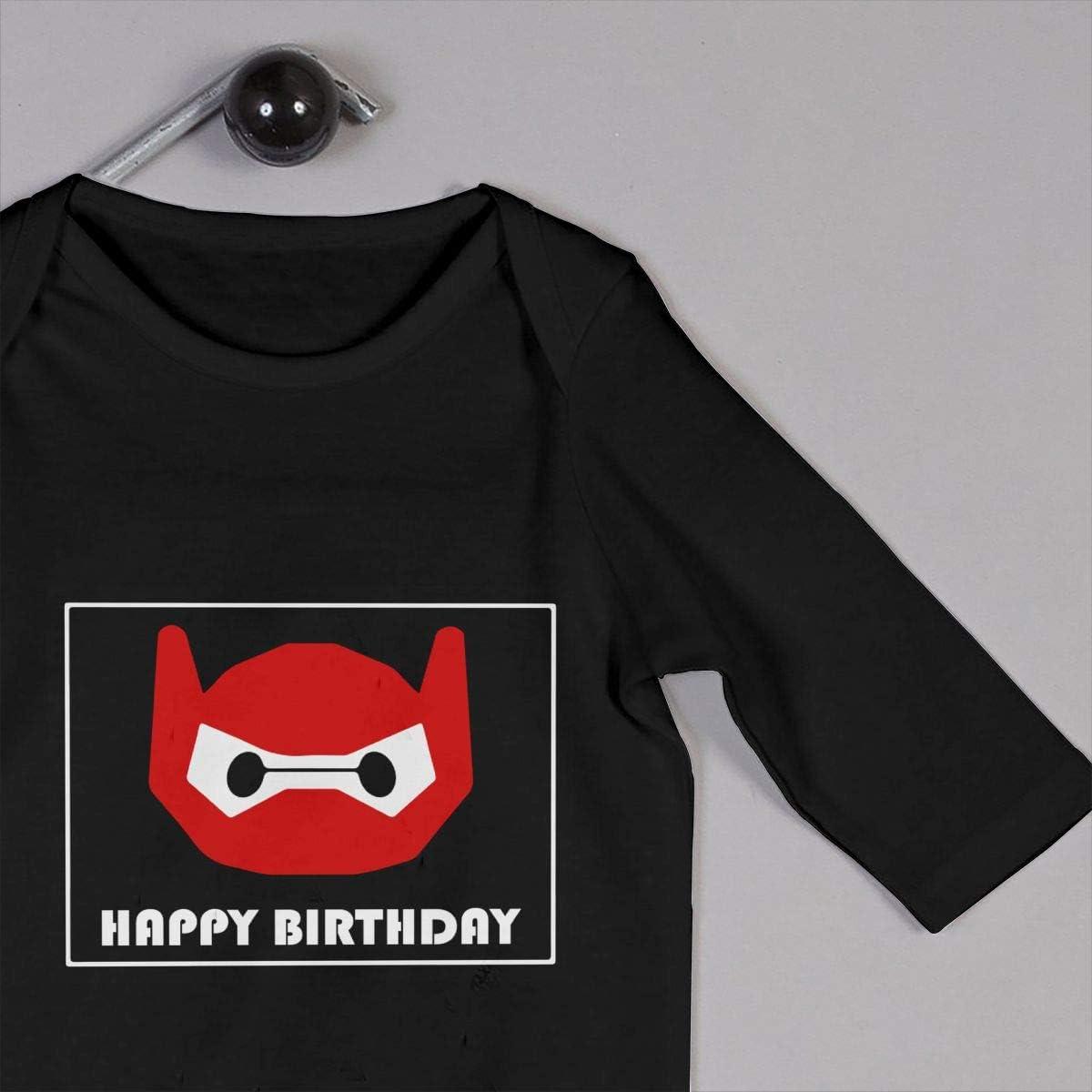 KinHui Cute Romper Black for Baby Girl Jumpsuit Baymax-Happy Birthday-1