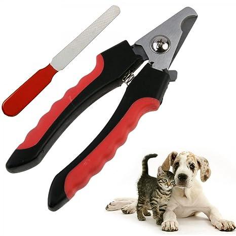 Trade Shop traesiotaglia uñas cortauñas Tijeras para Perros Gatos Alicates Cortaúñas con Lima Lima