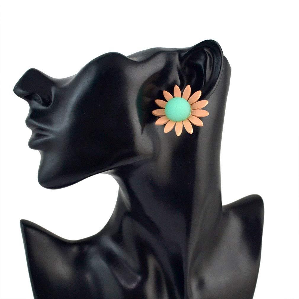 Jinxian Flower Drop Earrings Dangling Fashion Elegant Studs Graceful