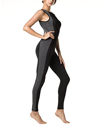 Amazon.com  LAPASA Women s Sports Jumpsuit (Ergonomic Leggings ... 99462d60f