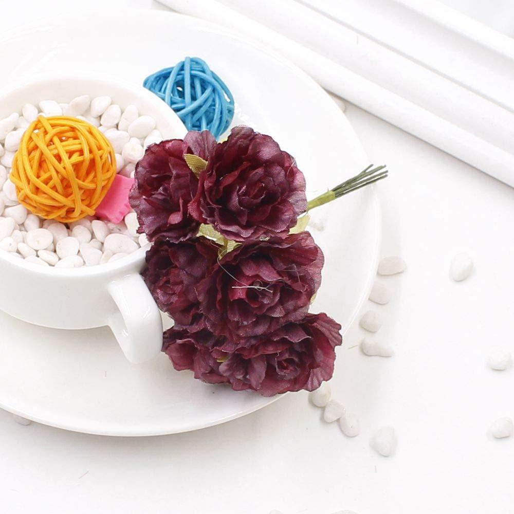 PPL21 6本/ロット 3cm シルクフラワー 造花 結婚式 装飾 DIY 花輪 贈り物 スクラップブック クラフト 造花 B07H361VZG 9