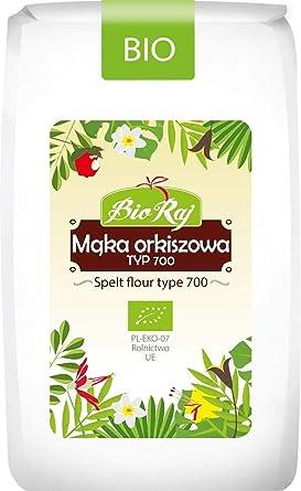 Harina de espelta blanca TYP 700 BIO 500 g - BIO RAJ: Amazon.es ...