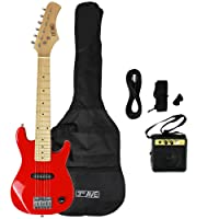 3rd Avenue STX30RDPK Electric Junior Guitar Pack with Amplifier, Red
