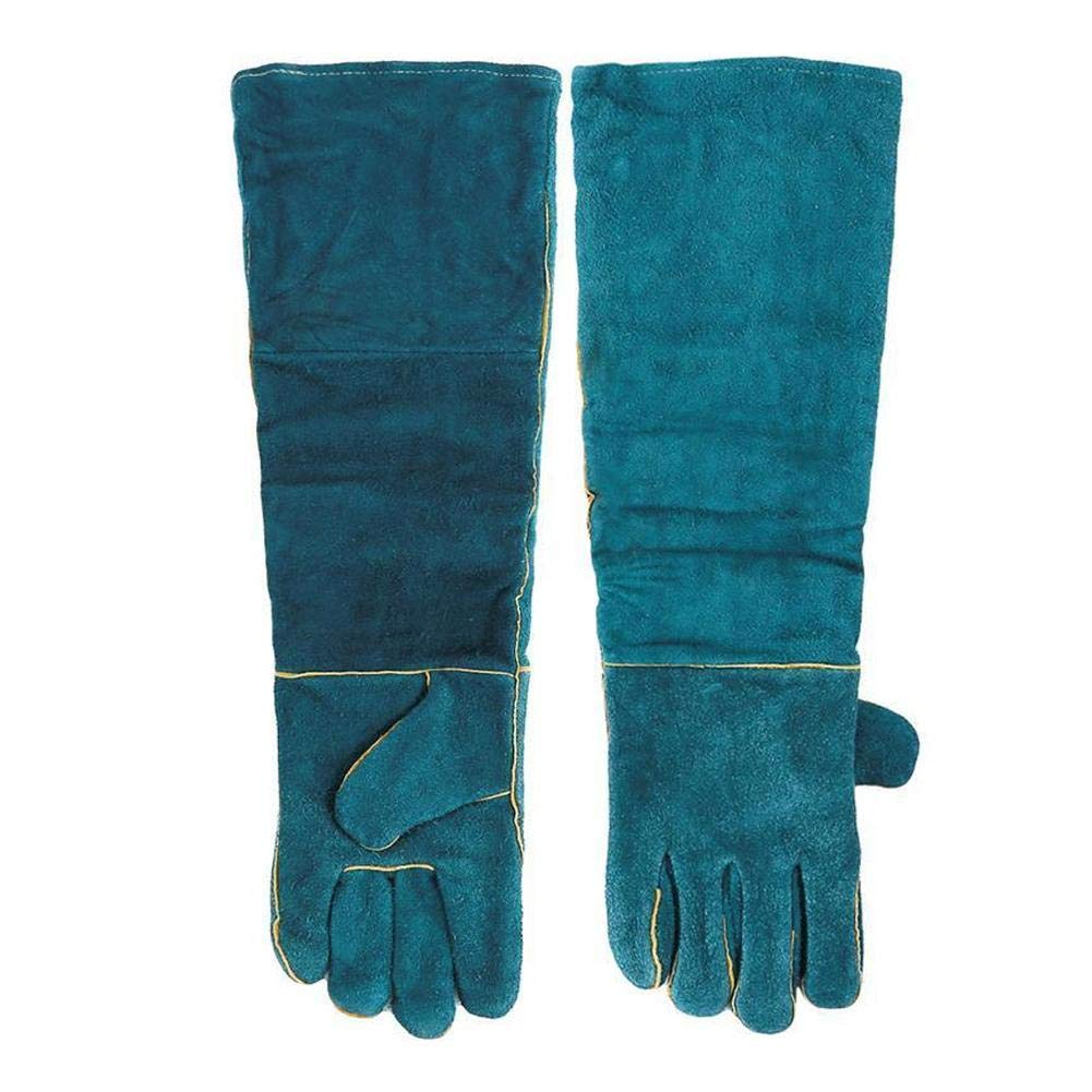 Animal Handling Gloves Anti-bite Scratch Gloves Gardening Wild Animals Climbing Reptile Protection Gloves Safe Durable Breathable Canvas Lining Gloves For Cat Dog Snake Parrot Lizard Lion Green kelihood