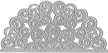 Semicircle Flower Metal Die Cuts Cutting Dies Scrapbooking Embossing Paper Cards