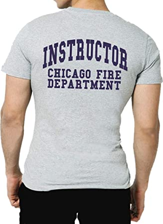 ad38f782 T-Shirt Ash, Chicago Fire Dept., Instructor – Training Division (Trainers