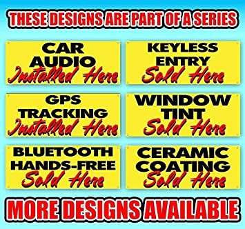 Paint Protection Sold HERE 13 oz Heavy Duty Vinyl Banner Sign with Metal Grommets Store Advertising Flag, New Many Sizes Available