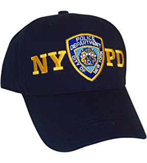 Amazon.com  NYPD Baseball Hat New York Police Department Navy   Gold ... 9402bbfb102a