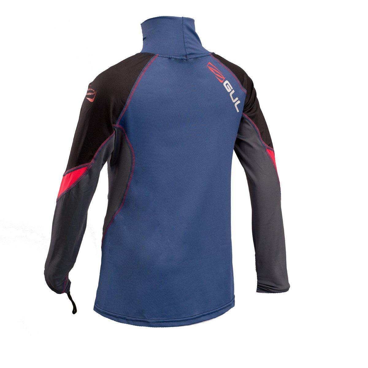 GUL 2018 Junior Long Sleeve Rash Vest Blue//Red RG0344-B4