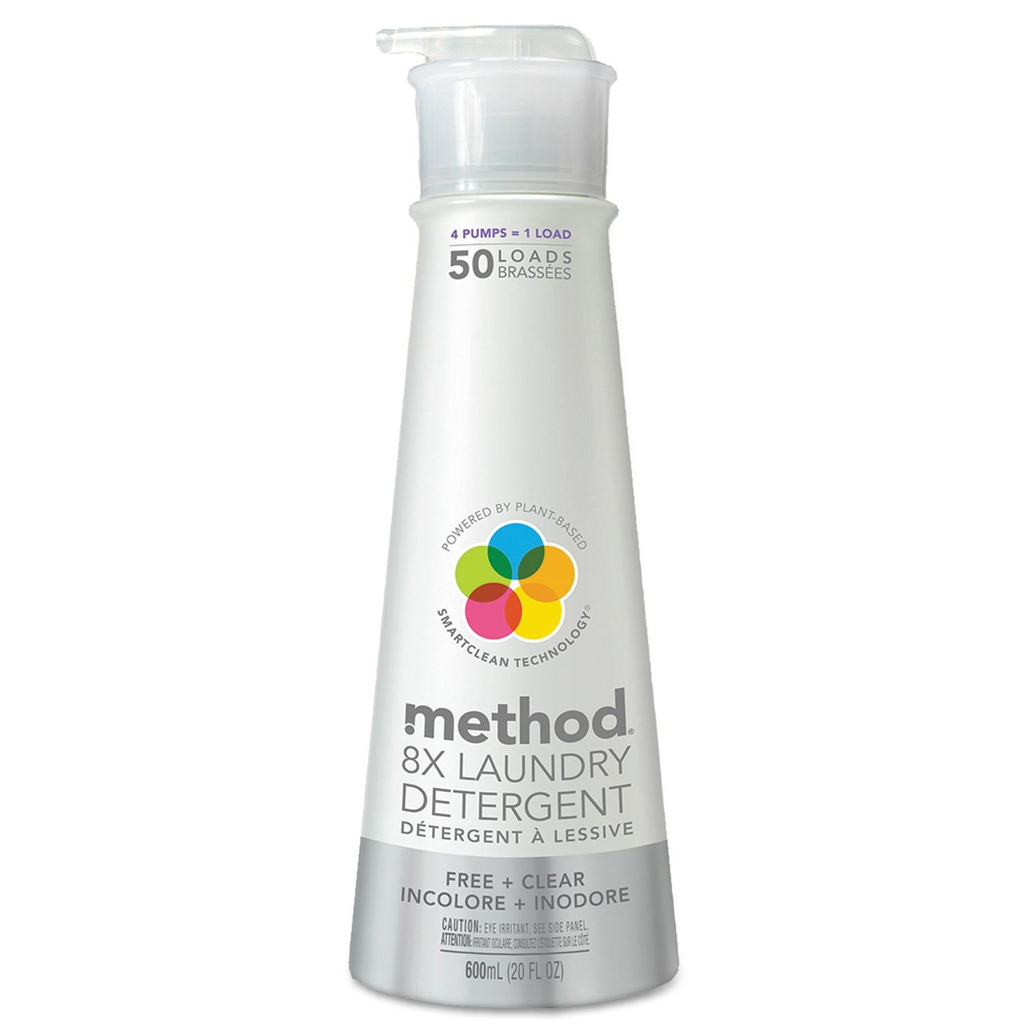 Method 01126 8X Laundry Detergent, Free & Clear, 20 oz Bottle