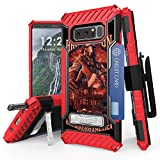 Galaxy Note 8 Case, Trishield Durable Rugged Heavy Duty Phone Cover with Detachable Lanyard Loop Belt Clip Holster and Built in Kickstand Card Slot for Note 8 - Fire Fighter Bring It On
