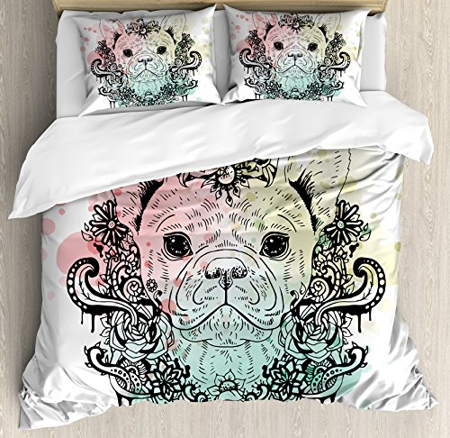 french bulldog bed set - 4