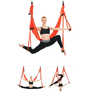 Amazon.com: Aerial yoga swing, volando Set de hamaca de Yoga ...