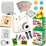 Fujifilm Instax Mini 8 (White) Deluxe kit bundle Includes: - Instant camera with Instax mini 8 instant films (40 pack) - A MASSIVE DELUXE BUNDLE