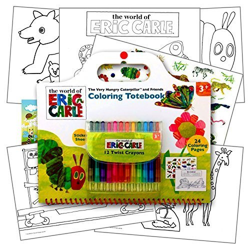 (World of Eric Carle Activity Set With Coloring Pages, Stickers & Twist Crayons, Plus 1 Separately Licensed Reward Sticker)