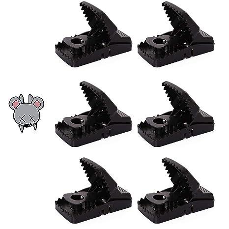 Peahop - Juego de 6 trampas para Ratones y Ratones para Gatos, Ratones y Ratas