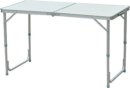 piccolo tavolo da campeggio pieghevole Tavolo da campeggio in alluminio leggero Tavolo da tavolo regolabile portatile con manico per barbecue da picnic da campeggio all Tavolo da campeggio pieghevole