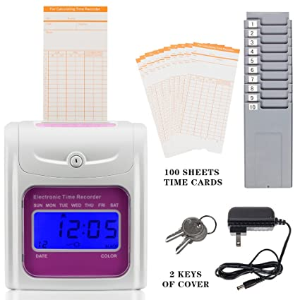 self employee time clock card machine include 100 cards s 991 - Time Card Machine