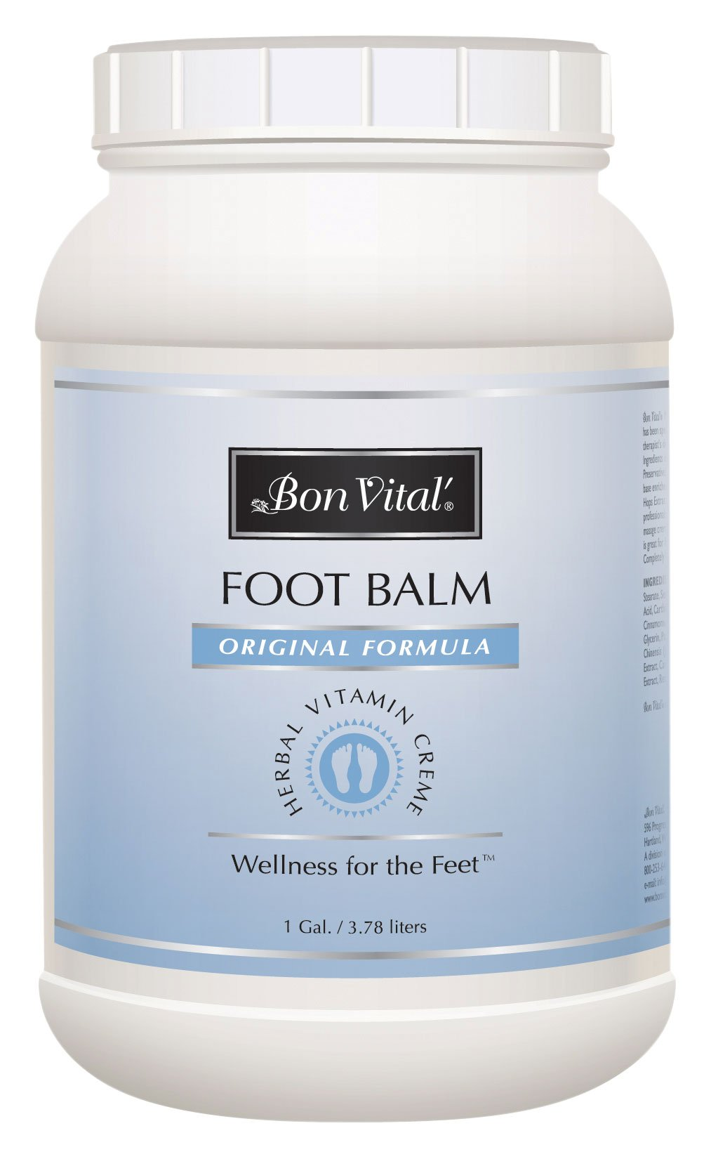 Bon Vital Original Foot Balm, 1 Gallon Jar