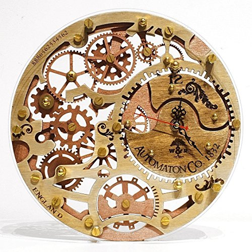 Skeleton 1832 HANDCRAFTED by WOODANDROOT transparent back decorative wooden wall clock, unique, personalized gifts, anniversary gift, large wall clock, home decor