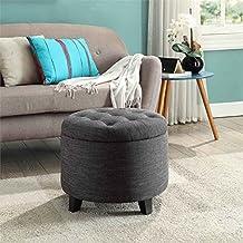 Convenience Concepts Designs4Comfort Round Ottoman Gray Fabric