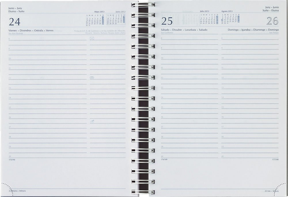 Agenda Día WireŽo 2018 FONTANA: Amazon.es: Oficina y papelería