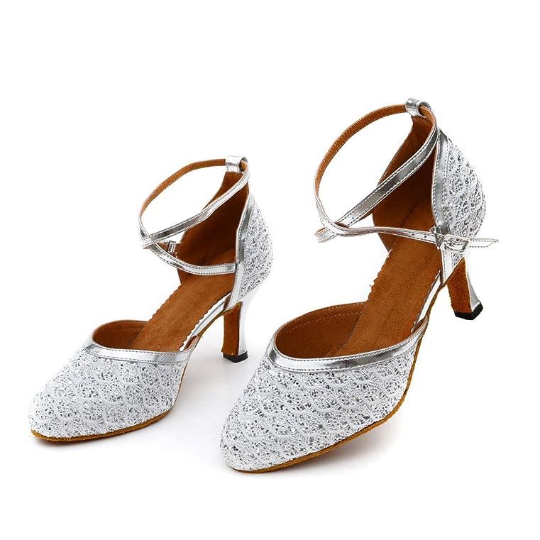 misu - Zapatillas de Danza para Mujer Plateado Plata, Color Dorado, Talla 35.5