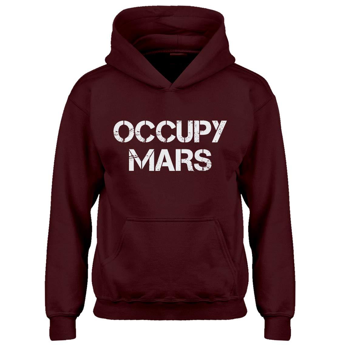 Kids Hoodie Occupy Mars Large Maroon Hoodie
