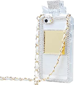 Tobestronger iPhone 6 Case, Diamond Crystal Perfume Bottle Shaped Chain Handbag Case Cover for iPhone 6 Plus 5.5 Inch (Transparent Bottom)