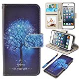iPod Touch Case, UrSpeedtekLive iPod Touch 5 Case, iPod Touch 6 Case, Premium PU Leather Wristlet Flip Case Cover with Card Slots & Stand for Apple iPod Touch 5 /6 , Believe in yourself
