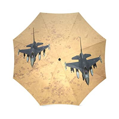 Airplane Aircraft Pattern Folding Rain Umbrella Parasol Windproof Travel Sun Umbrella Compact