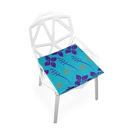 Amazon.com : PLAO Soft Seat Cushion Blue Flowers Printed ...
