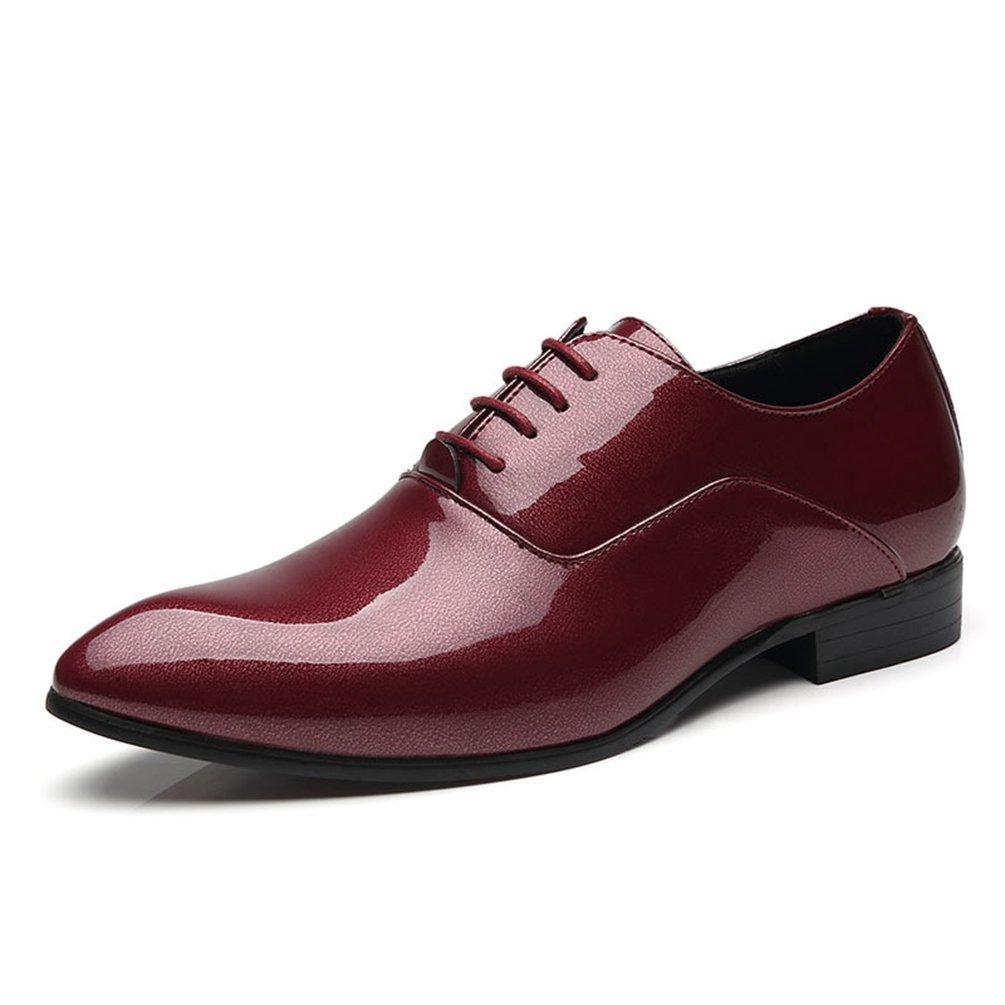 Chaussure en Cuir d'affaire Souple a Lacet pour Homme Soulier Chaussure de Ville au Loisir Pointue Basse